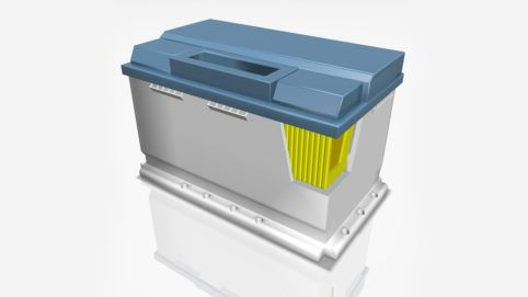 Production of battery cells in E-Mobility with ViscoTec dosing technology.