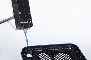 Two-component dispensing systems for silicone, adhesives and others
